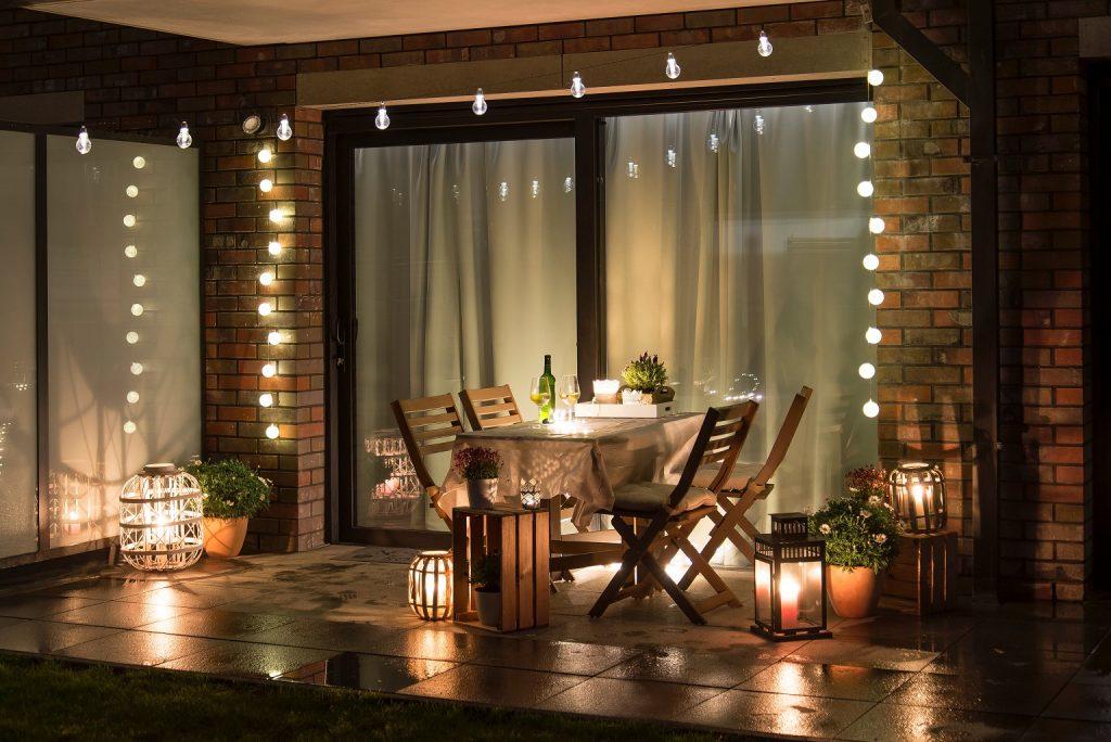 éclairage de terrasse