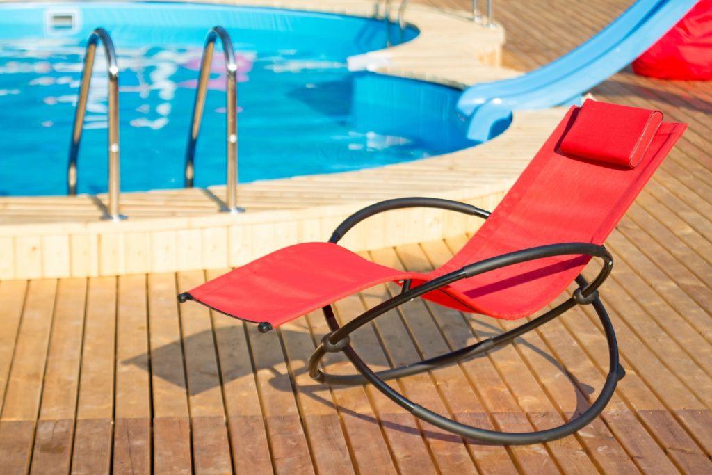 matériau de chaise longue de piscine