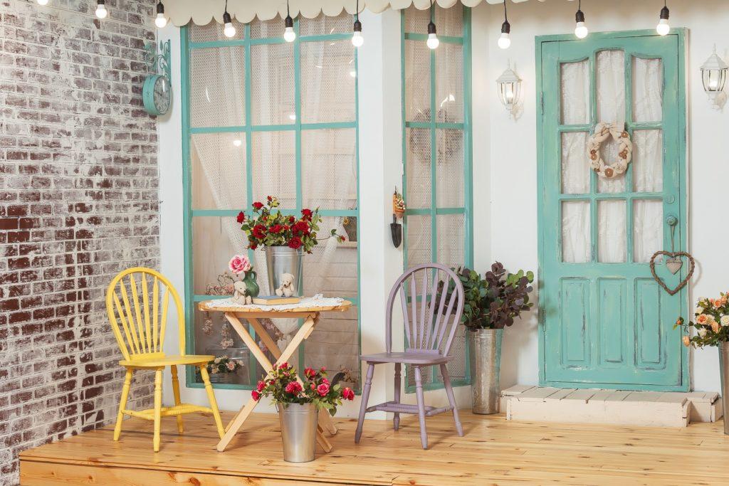 terrasse et meubles style bohème